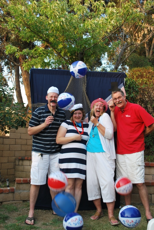 This is one of my favorite photo booth shots.  Clearly the guests got creative and had tons of fun.